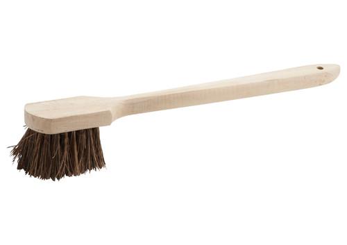 """Winco BRP-20 Pot Brush, 20"""", Wood Handle, Coir Bristles"""