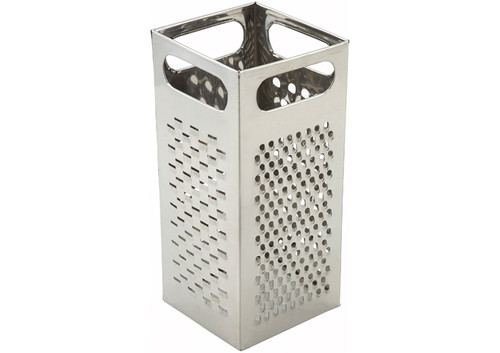 """Winco SQG-4 Grater, 9"""" x 4"""", Boxed, Stainless Steel"""