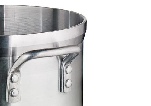 """Winco AXHA-60 Aluminum Sauce Pot, 60 qt., 18"""" dia., 13-3/4""""H"""