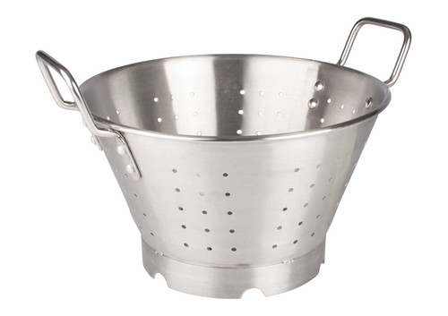 Winco SLO-11 Stainless Steel Colander with Handles & Base, 11 Qt.