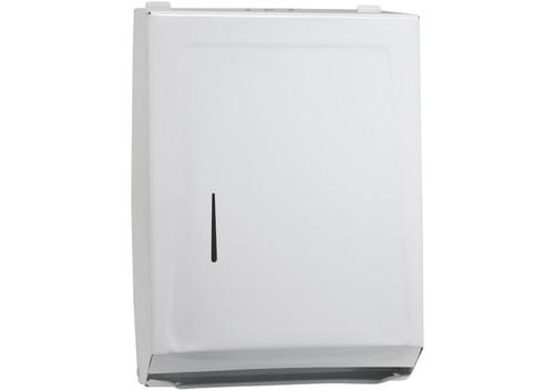 Winco TD-600 Paper Towel Dispenser, C/ Multi-Fold, Iron, White Epoxy Finish