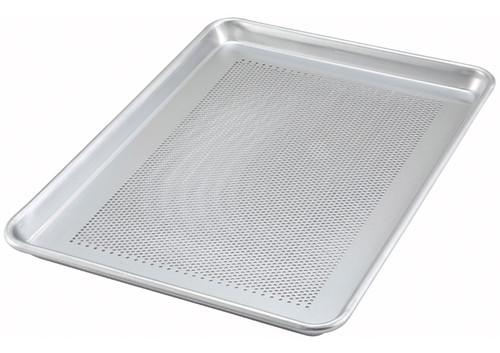 "Winco ALXP-1826P Full Size 18 Gauge 18"" x 26"" Perforated Aluminum Sheet Pan"