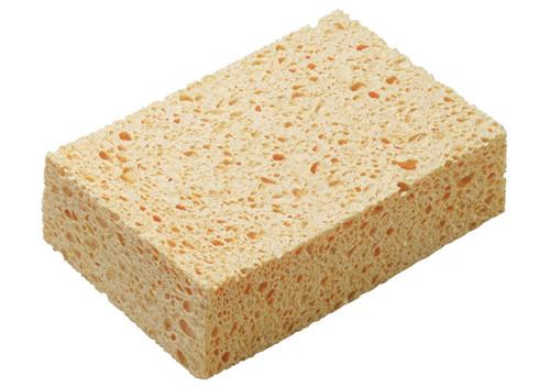 "Winco SP-C64Y Cellulose Sponge, 6"" x 4.2"" x 1.6"" (3pc/pack)"