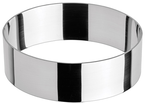 """Winco SPM-41O Stainless Steel Pastry Mold, Oval, 4""""W x 1-3/8""""H"""