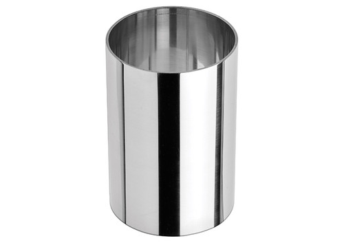 """Winco SPM-23R Stainless Steel Pastry Mold, Round, 2"""" dia. x 3""""H"""