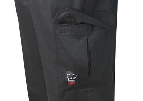 Winco UNF-11KXL Universal Chef Pants, Drawstring, Black, X-Large