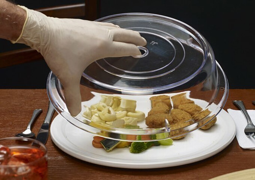 """Winco PPCR-11 Round Clear Polycarbonate Plate Cover, 11"""" x 2.5"""""""