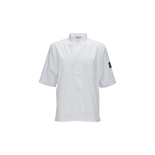 Winco UNF-9W3XL Unisex Chef Shirt, Ventilated, Tapered Fit - White, 3X-Large