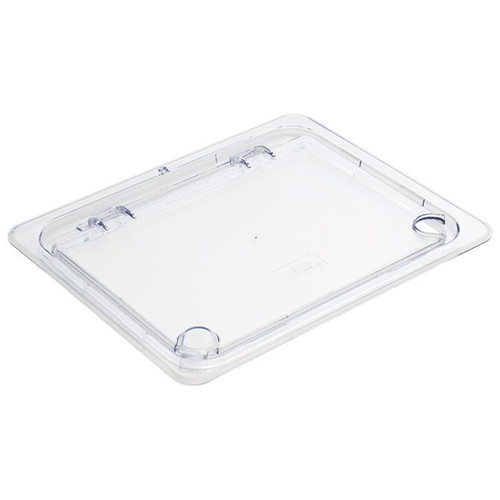 Winco SP7200H Food Pan Cover, Half Size, Hinged, Clear
