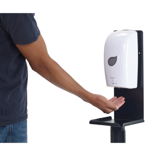 Winco SMSD-16K Universal Sanitizer/Soap Dispenser Stanchion Mount