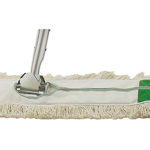 "Winco DM-24H Replacement Dust Mop Head, 24"" x 5"", Zipper Closure"