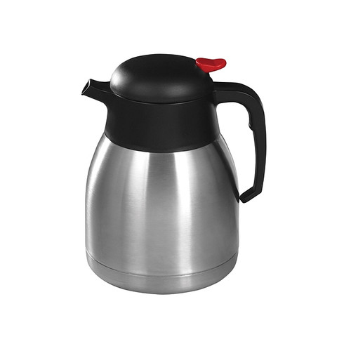 Winco CF-1.2 Thermal Carafe, Stainless Steel Lined, Push Button, 40 oz (1.2L)