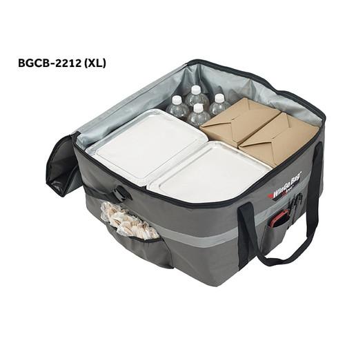 "Winco BGCB-2212 WinGo Bag Catering Bag, X-Large, 22"" x 22"" x 12"", Gray"