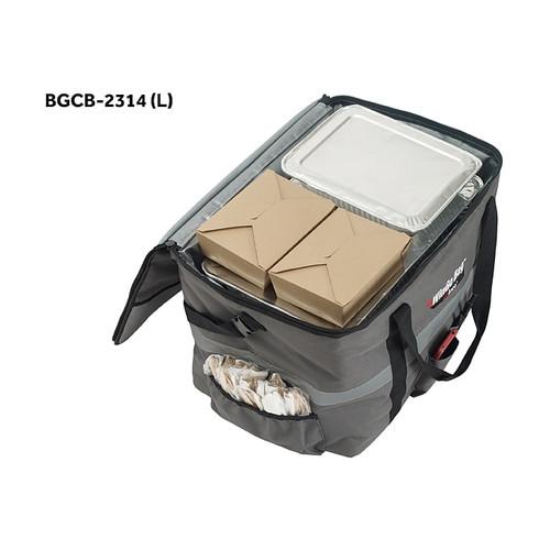 "Winco BGCB-2314 WinGo Bag Catering Bag, Large, 23"" x 15"" x 14"", Gray"