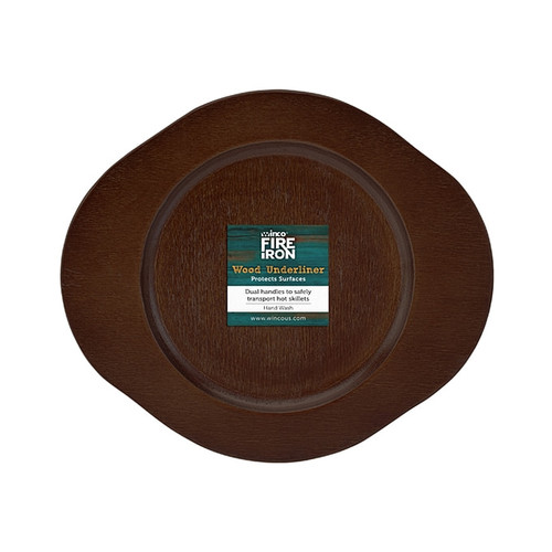 """Winco CASM-6RUL Round Wood Underliner with Dual Handles, 8-1/4"""""""