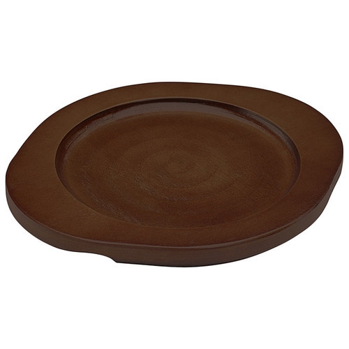 """Winco CAST-6UL Round Wood Underliner with Dual Handles, 7-3/4"""" x 8-1/4"""""""