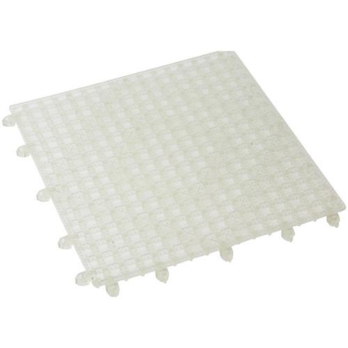 "Winco BML-12C Interlocking Bar Mat, 12"" x 12"", Clear, Plastic"