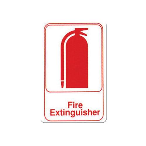 "Winco SGN-682W Fire Extinguisher, 9"" x 6"", Red & White"