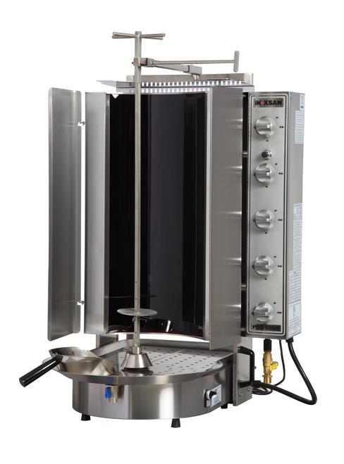 Inoksan PDG500NR Natural Gas Gyro Machine, 10 Burner, Robax Glass