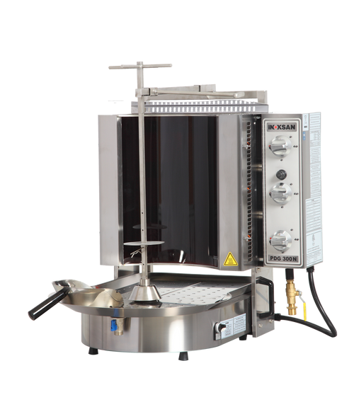 Inoksan PDG300NR Natural Gas Gyro Machine, 10 Burner, Robax Glass