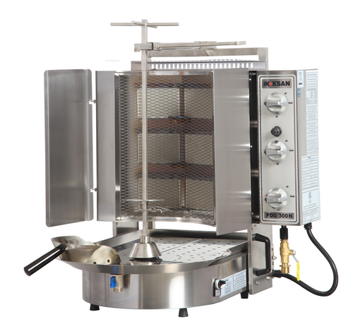Inoksan PDG300NM Natural Gas Gyro Machine, 6 Burner, Wire Mesh