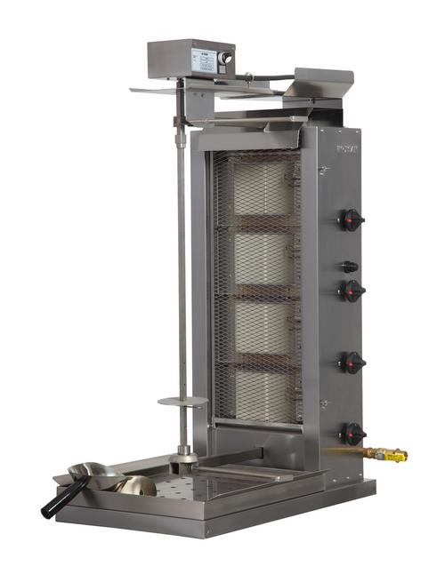 Inoksan PDG104M Natural Gas Gyro Machine, 4 Double Burner, Top Motor