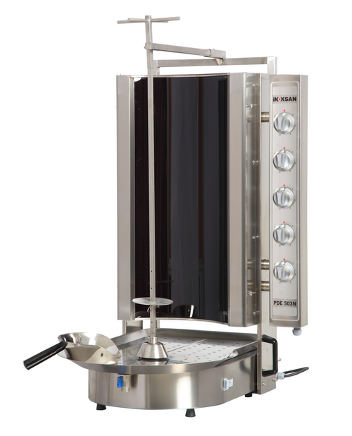 Inoksan PDE503N Electric Gyro Machine, 15 Burner, Robax Glass