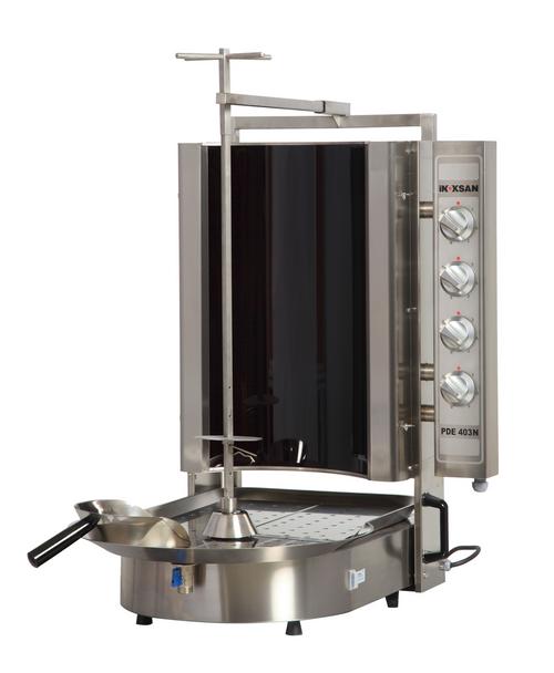 Inoksan PDE403N Electric Gyro Machine, 12 Burner, Robax Glass