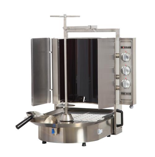 Inoksan PDE303N Electric Gyro Machine, 9 Burner, Robax Glass