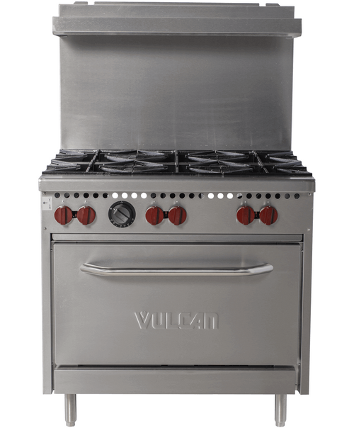 Vulcan SX36-6BP 198,000 Btu Propane Gas Restaurant Range, 6 Burner, Standard Oven, SX Series (SX36-6BP)