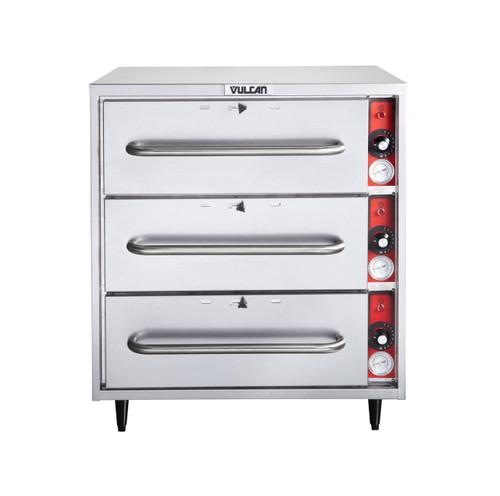 Vulcan VW3S-1M0ZX 1,425 Watt Electric Food Warmer, 3 Drawer, Free Standing (VW3S-1M0ZX)