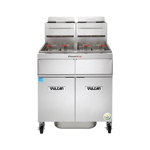 Vulcan 2TR45AF-2 140,000 Btu Propane Gas Free Standing Fryer with Filtration, 90 Lb, TR Series (2TR45AF-2)