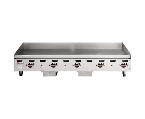 """Wolf AGM60 Natural Gas 60"""" Heavy Duty Countertop Griddle with Manual Control - 135,000 BTU"""