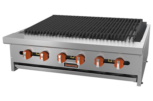 "Sierra SRRB-36 36"" Radiant Broiler, 96K BTU, 6 Burners, Manual Controls"