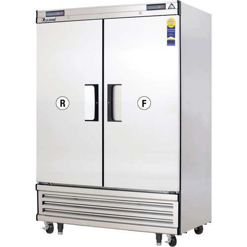 """Everest Refrigeration EBRF2 54.13"""" Two Section Solid Door Upright Reach-In Dual Temp Refrigerator/Freezer Combo"""