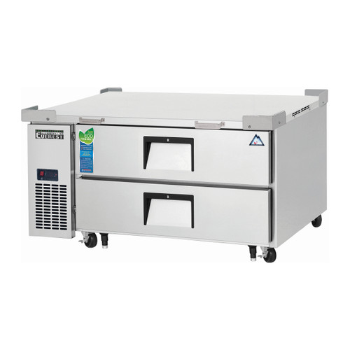 "Everest Refrigeration ECB48D2 48.38"" One Section Two Drawer Side Mount Refrigerated Chef Base - 115V (ECB48D2)"