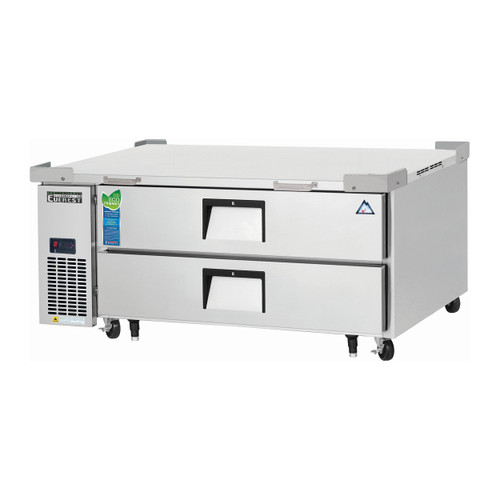 """Everest Refrigeration ECB52D2 51.88"""" One Section Two Drawer Side Mount Refrigerated Chef Base - 115V (ECB52D2)"""