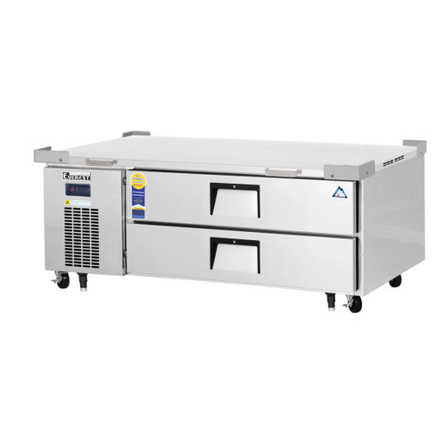 "Everest Refrigeration ECB52-60D2 60"" One Section Two Drawer Side Mount Refrigerated Chef Base - 115V"