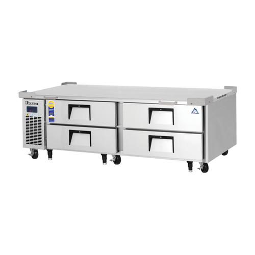 """Everest Refrigeration ECB72D4 72.38"""" Two Section Four Drawer Side Mount Refrigerated Chef Base - 115V"""