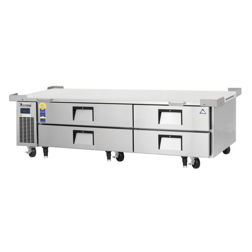 "Everest Refrigeration ECB82-86D4 86.25"" Two Section Four Drawer Side Mount Refrigerated Chef Base - 115V"