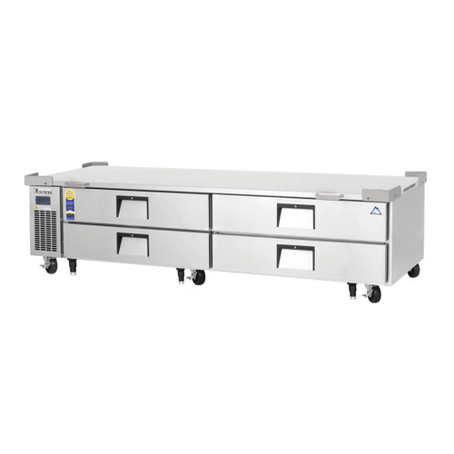 """Everest Refrigeration ECB96D4 95.5"""" Two Section Four Drawer Side Mount Refrigerated Chef Base - 115V"""