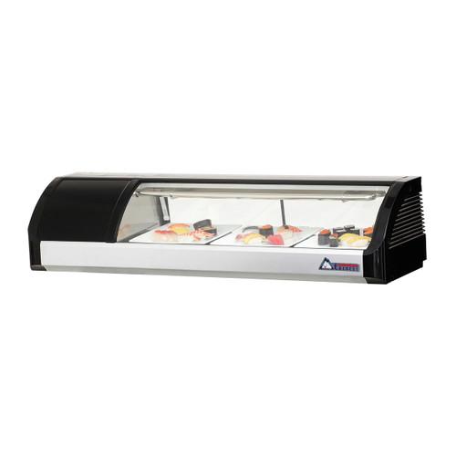 "Everest Refrigeration ESC47L 47.25"" Left Compressor Curved Glass Refrigerated Sushi Case - 1.48 Cu. Ft. (ESC47L)"