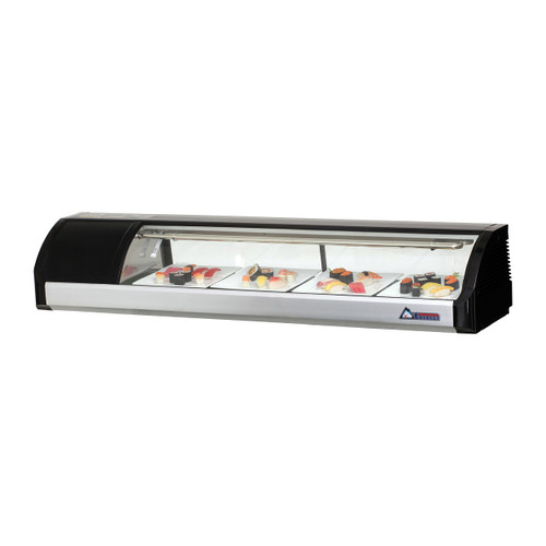 "Everest Refrigeration ESC59L 59"" Left Compressor Curved Glass Refrigerated Sushi Case - 2.01 Cu. Ft. (ESC59L)"