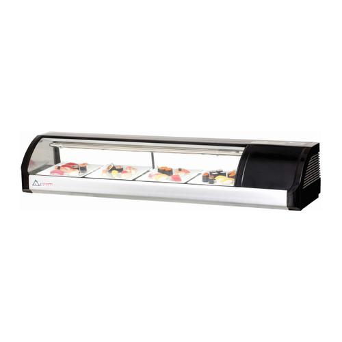 """Everest Refrigeration ESC59R 59"""" Right Compressor Curved Glass Refrigerated Sushi Case - 2.01 Cu. Ft. (ESC59R)"""