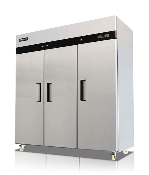 Migali C-3R 3 Door Reach-In Refrigerator