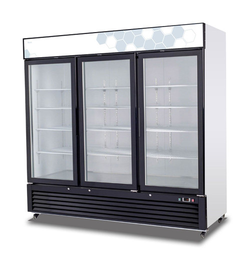 Migali C-72RM 72 cu/ft Glass Door Merchandiser Refrigerator