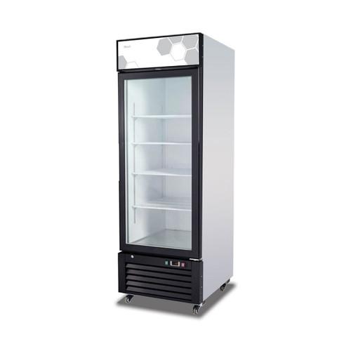 """Migali C-23FM 27"""" Glass Door Merchandiser Freezer, 1 Section, 23 cu/ft"""