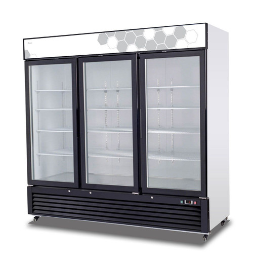 Migali C-72FM 72 cu/ft Glass Door Merchandiser Freezer