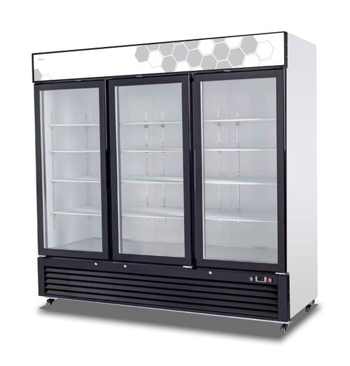 Migali C-72FM 72 cu/ft Glass Door Merchandiser Freezer