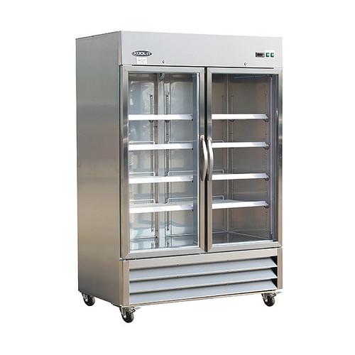 "Ikon Series IB54RG 53"" Glass Door Refrigerator, 2 Doors"